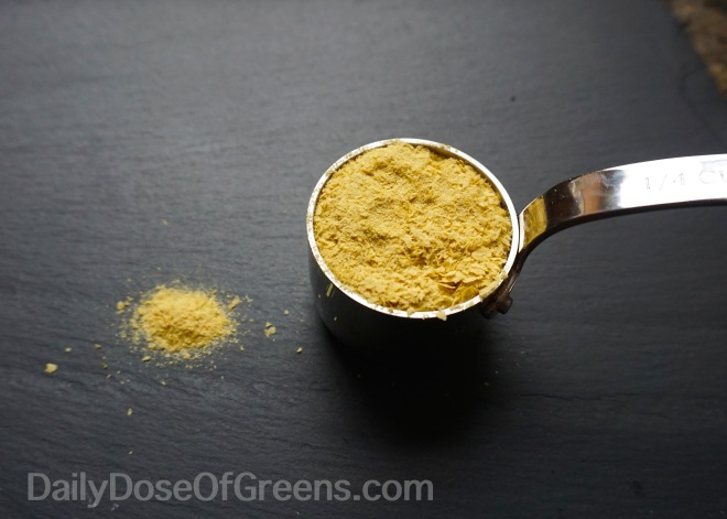 Nutritional yeast adds a little extra cheesy flavor and B vitamins.