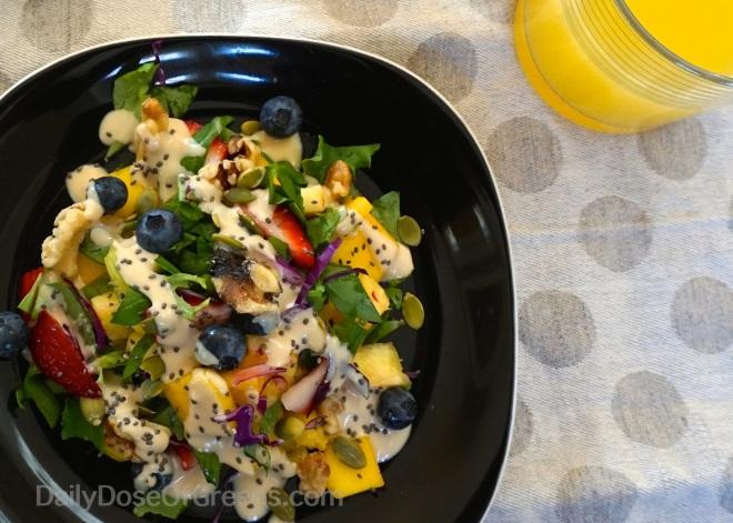 Breakfast Power Salad with Lemon Tahini Dressing