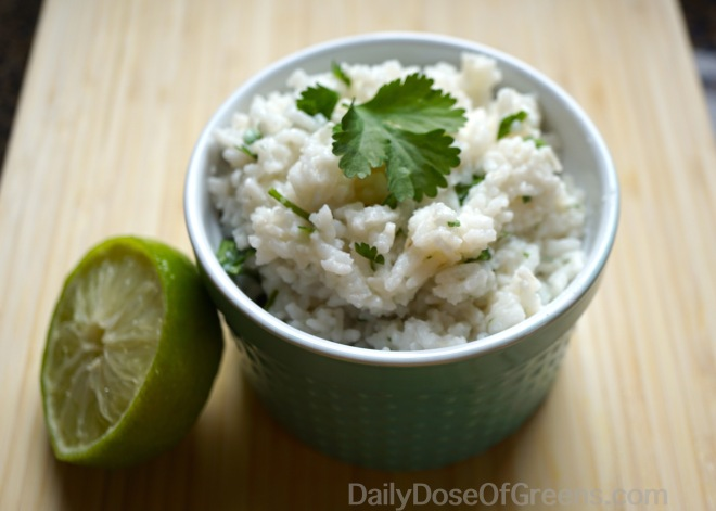 Coconut lime rice with cilantro