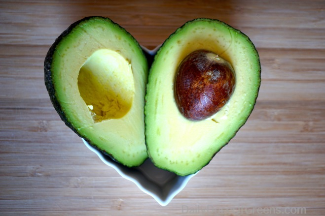 avocado halves, heart